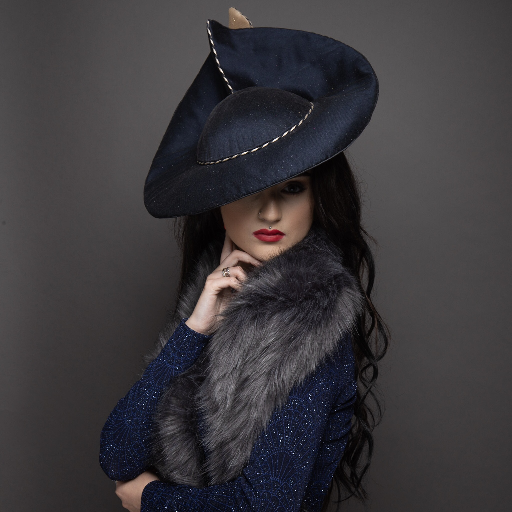 The Portrait Kitchen 'Velvet Rose' by Gemma Holley Millinery