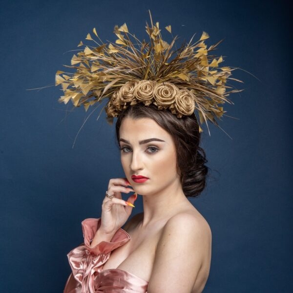 Roses of Gold by Gemma Holley Millinery