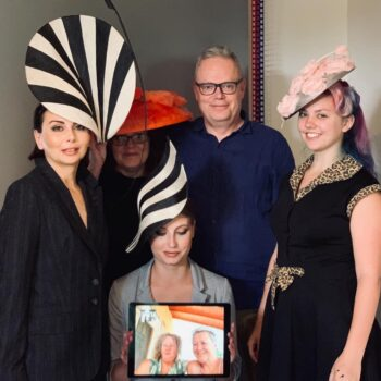group photo for donna hartley millinery shoot The Portrait Kitchen