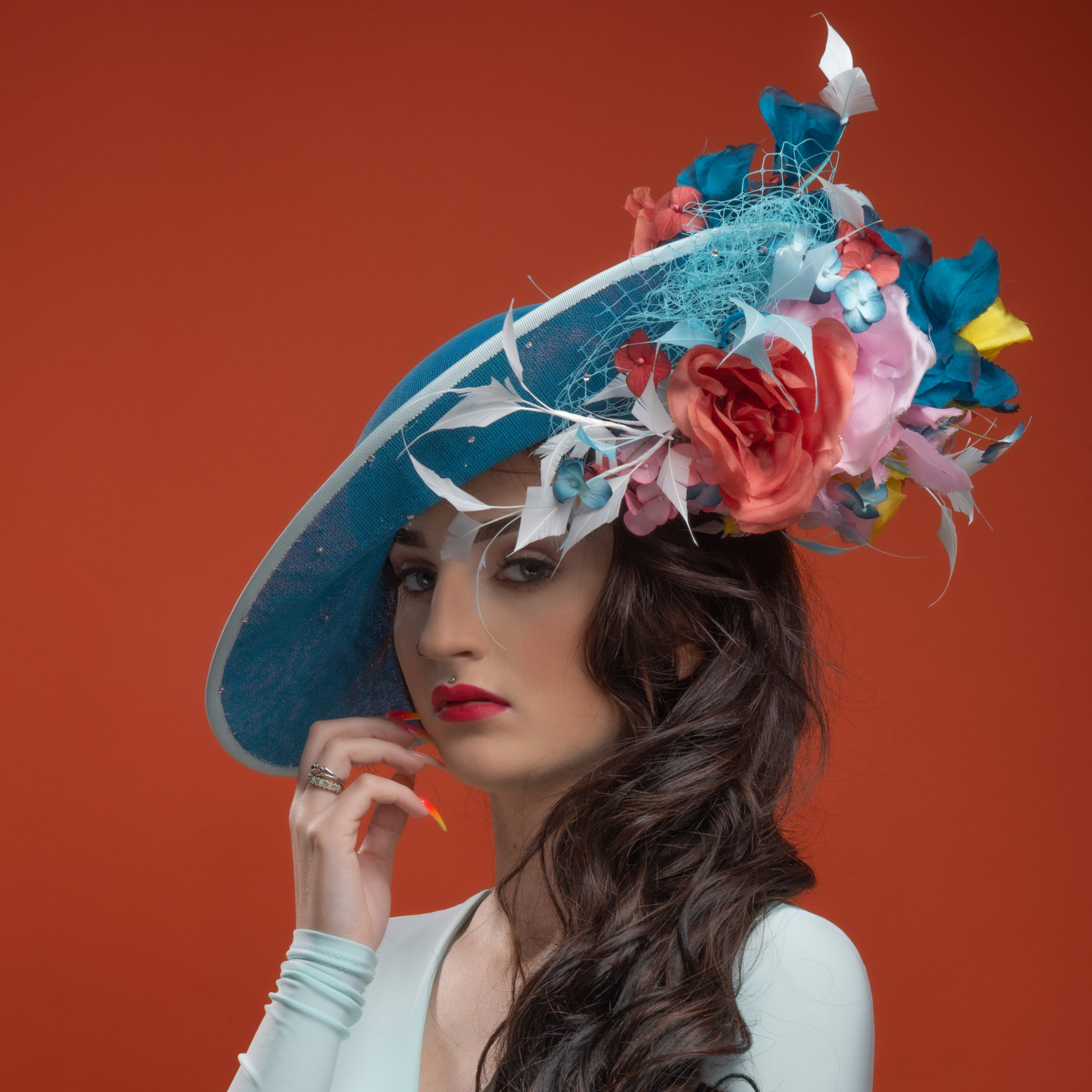 the portrait Kitchen Tealed with a Kiss by Gemma Holley Millinery