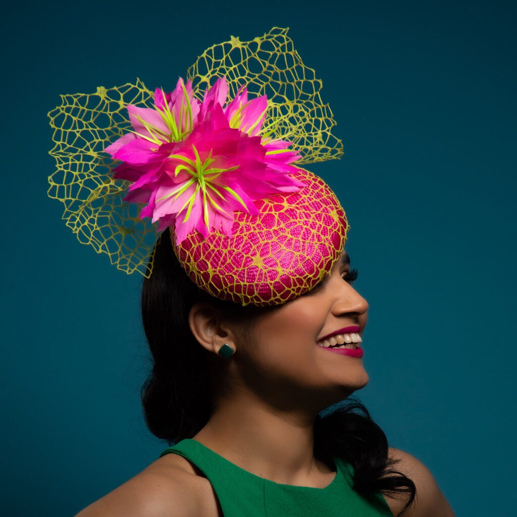 Neon Web by Sarah Ross Millinery