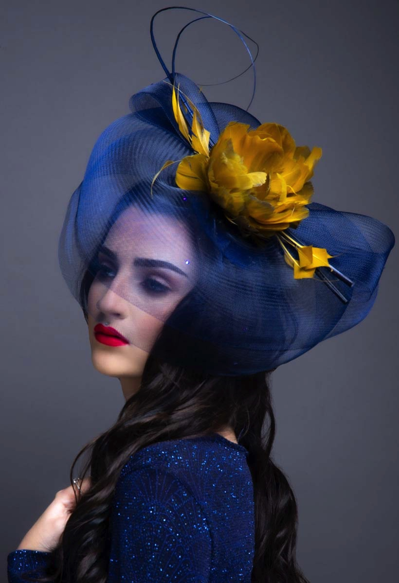 The Portrait Collection Heart of Gold by Gemma Holley Millinery