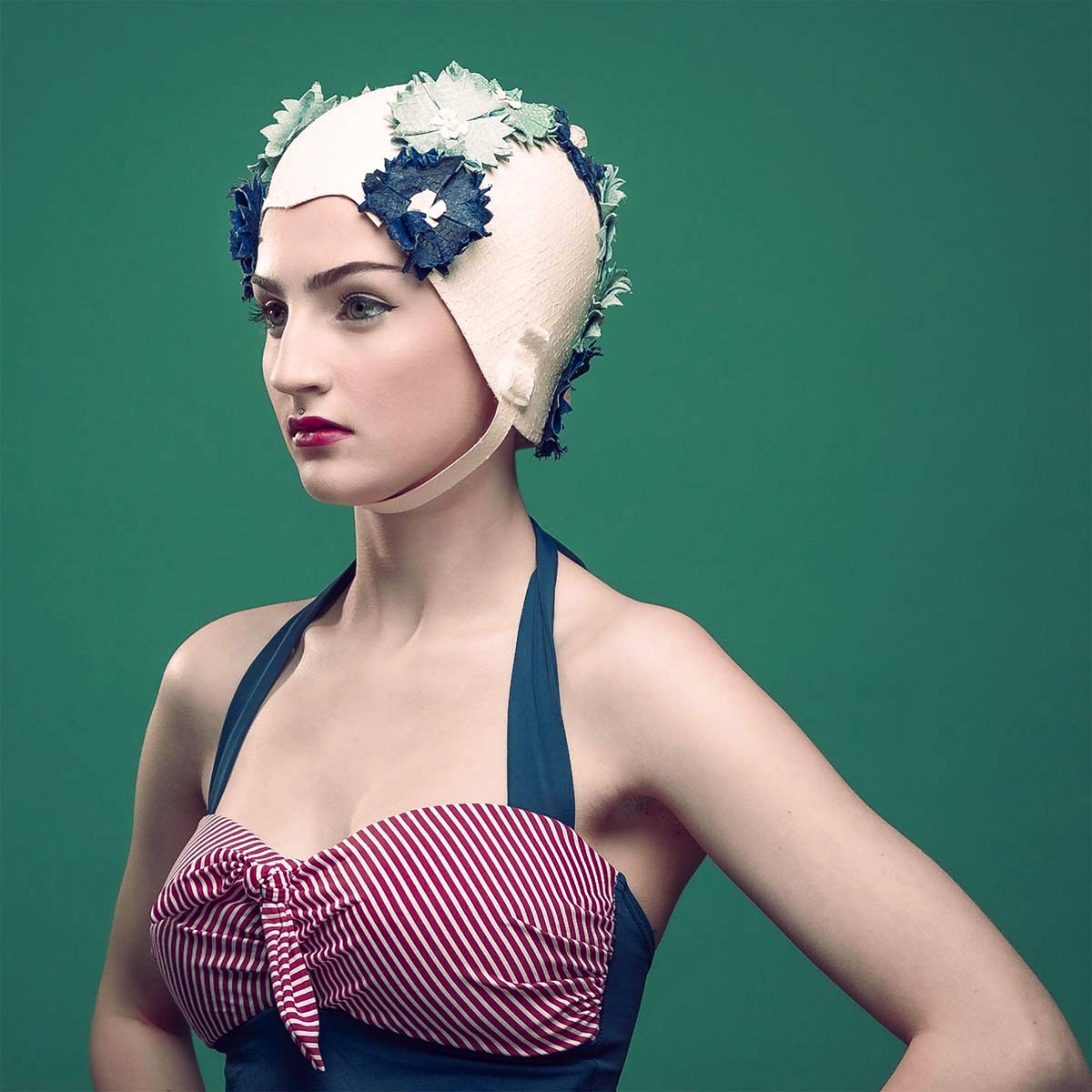 The Portrait Kitchen 'In the Swim' by Jane Fryers Millinery