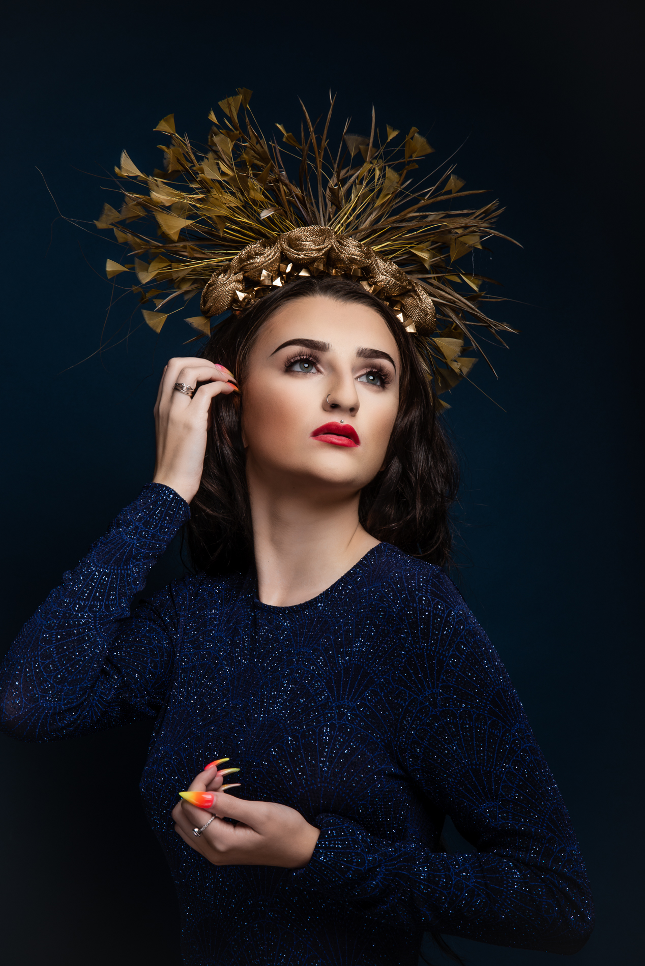 The Portrait Kitchen Roses of Gold by Gemma Holley Millinery